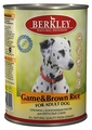 Berkley Game&Brown Rice for Adult Dog