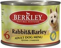 Berkley №6 Rabbit&Barley for Adult Dog